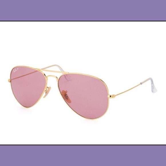 ray ban aviator small gold pink